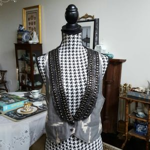 THE LIMITED Embellished Vest Size M